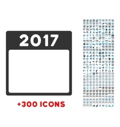2017 year icon vector