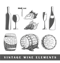 Set of elements of the wine vector