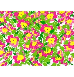 Spring summer Flowers in vintage style Floral vector image