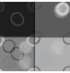 Scribble circles seamless pattern set vector