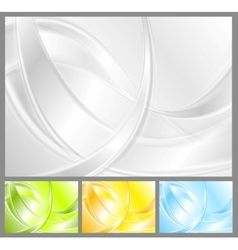 Abstract waves collection vector image vector image