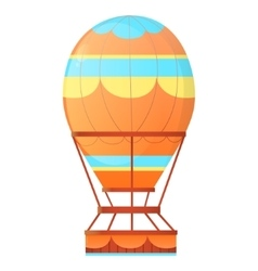 Aerostat balloon hot air vector