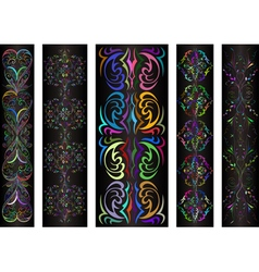 Banners with colorful ornament vector image