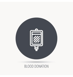 Blood donation icon medicine drop counter sign vector