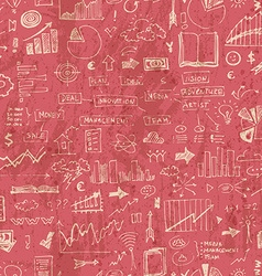 Business doodle seamless pattern vector image vector image