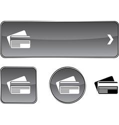 Card button set vector