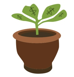 Dollar plant vector
