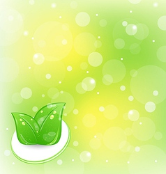 Ecology background with leaves vector image vector image