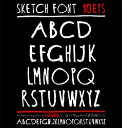 English handwriting alphabet figures vector