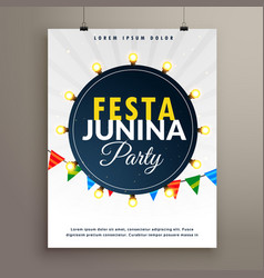 festa junina poster design for party event vector image