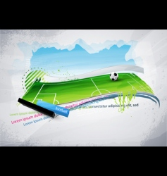 football field graffiti vector image vector image