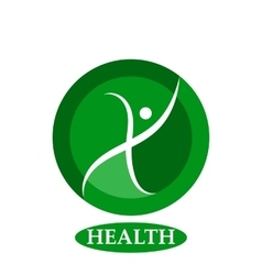 Health character - logo template concept vector