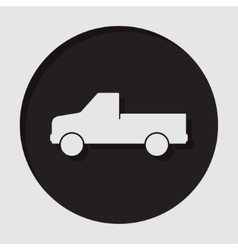 Information icon - pickup with a flatbed vector
