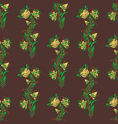 khokhloma seamless pattern traditional vector image vector image