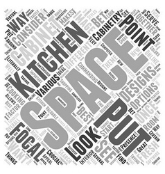 Kitchen cabinet designs word cloud concept vector