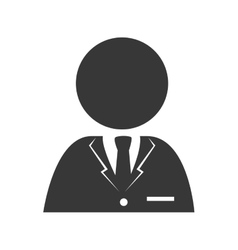 Man suit tie service icon graphic vector