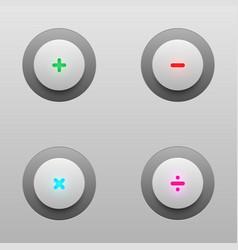 Math tech buttons vector