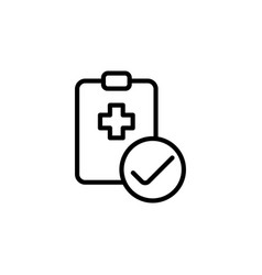 medical clipboard checklist icon on white vector image vector image