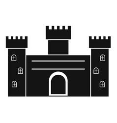 medieval fortification icon simple style vector image vector image
