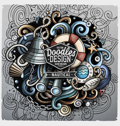 Nautical cartoon doodle vector