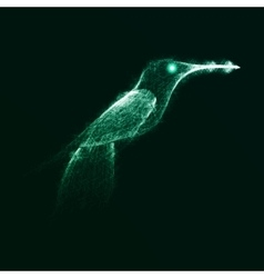 Neon abstract hummingbird vector image