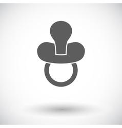 Nipple flat icon vector image