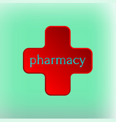 Pharmacy logo medicine red cross abstract design vector