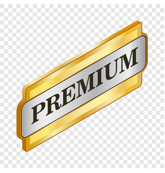rectangular label premium isometric icon vector image