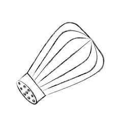 Salt shaker isolated icon vector