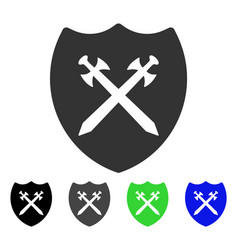 Security shield flat icon vector
