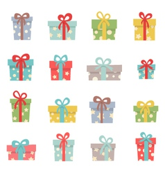 Set of cute christmas gifts vector image vector image