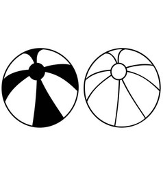 Simple black beach ball icon vector