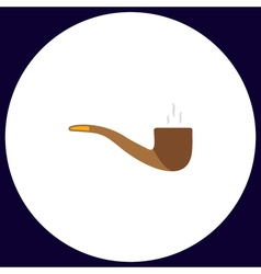 Smoky pipe computer symbol vector
