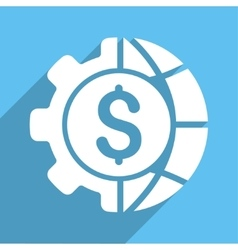 World Industry Finances Long Shadow Square Icon vector image vector image