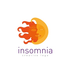 Creative logo on insomnia vector