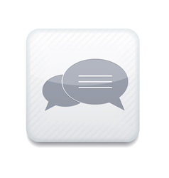 White bubble speech icon eps10 easy to edit vector