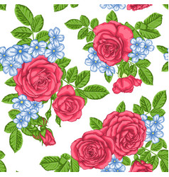 beautiful vintage seamless pattern with bouquets vector image