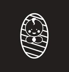 stylish black and white icon newborn boy vector image