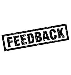 Square grunge black feedback stamp vector