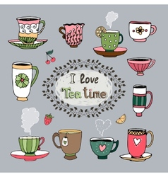 I Love Tea Time vector image