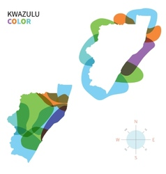 Abstract color map of kwazulu vector