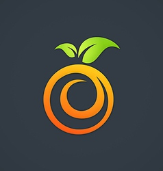 Nutrition fruit fresh swirl logo vector