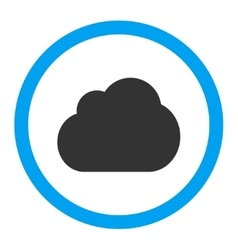 Cloud flat blue and gray colors rounded vector