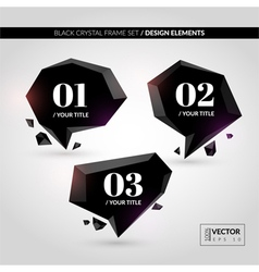 Black crystal frame set vector