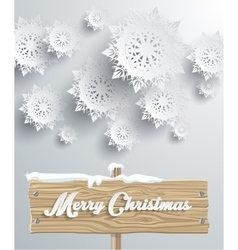 Merry christmas board snowflake background vector