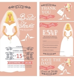 Bridal shower wedding cardsbridedecoration vector