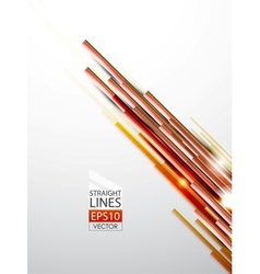 abstract orange lines background vector image