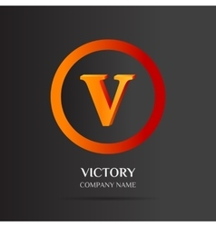 V letter logo abstract design vector