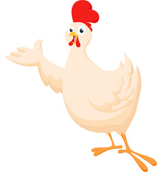 Chicken cartoon presenting vector