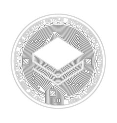 crypto currency stratis black and white symbol vector image vector image